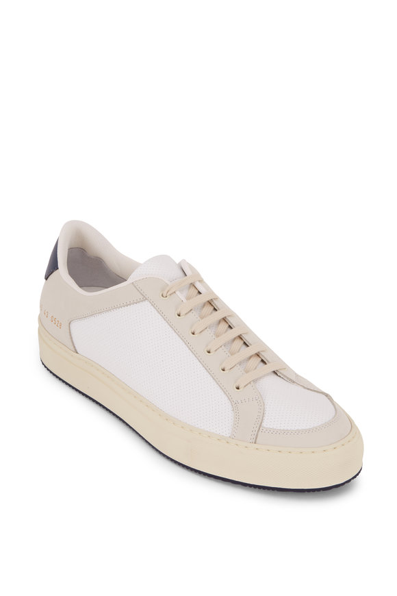 Common Projects Retro 70's White Perforated Leather Sneaker