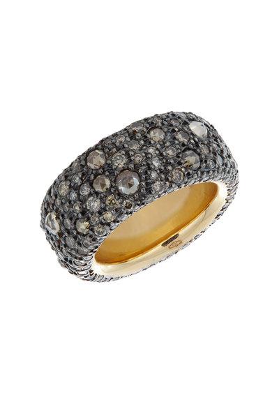 Pomellato - 18K Pink Gold Brown Diamond Ring