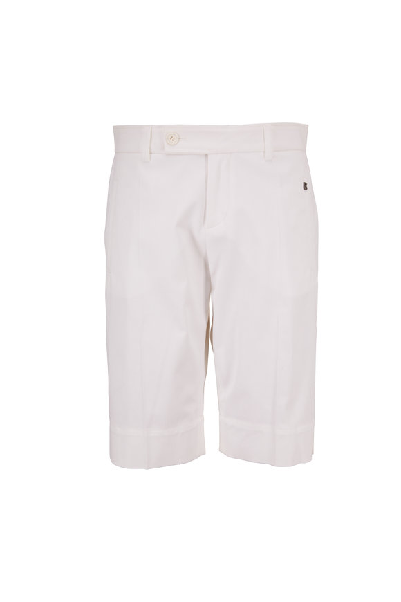 Bogner Lara White Stretch Cotton Bermuda Short