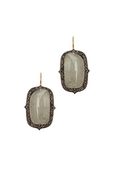 Sylva & Cie - 18K White Gold Sapphire & Diamond Drop Earrings