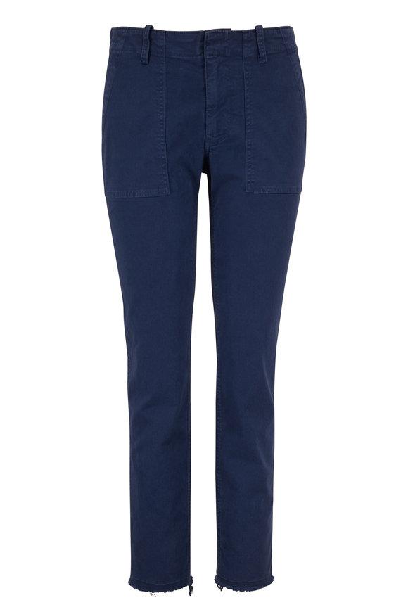 Nili Lotan Jenna Vintage Blue Slim Fit Crop Pant
