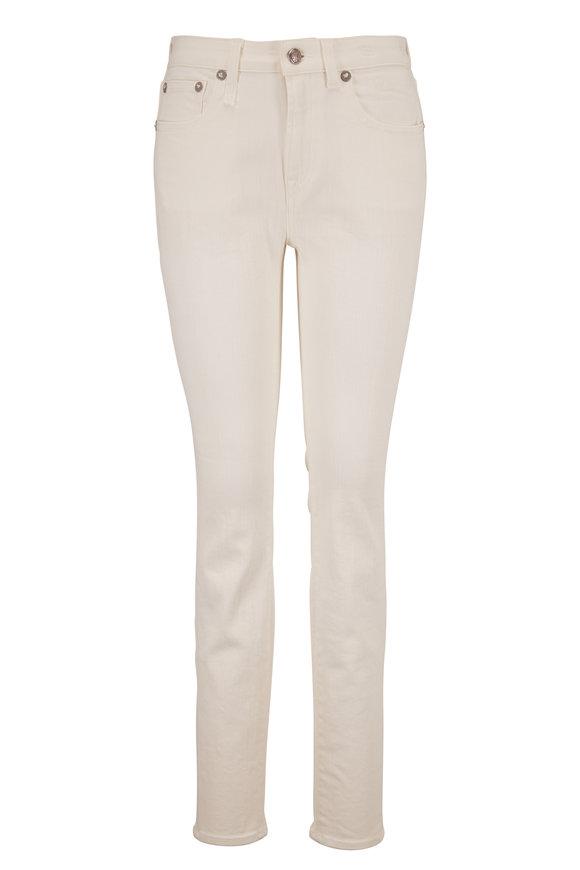 R13 Allison Rinsed White Skinny Jean