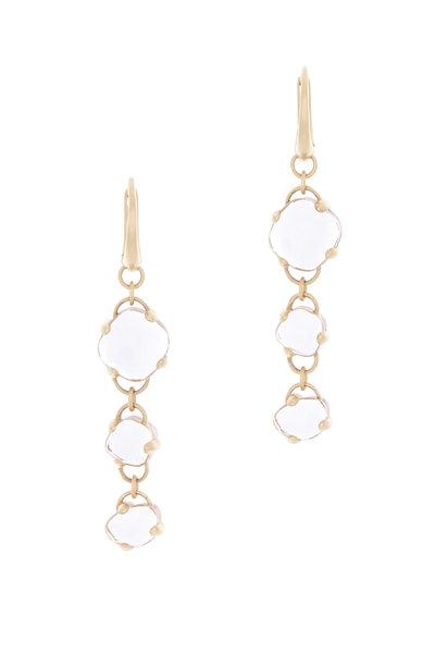 Pomellato - Capri Pink Gold Rock Crystal Pink Quartz Earrings