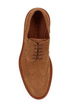 Trask - Rogan Camel Suede Wingtip Buck Shoe