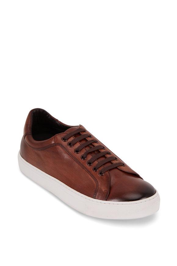 Trask Rigby Cognac Suede Low-Top Sneaker