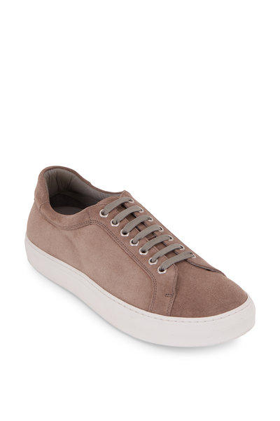 Trask - Rigby Light Gray Suede Low-Top Sneaker
