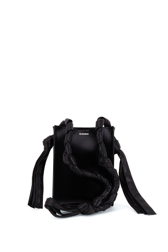 Jil Sander Tangle Black Leather Rectangle Small Bag