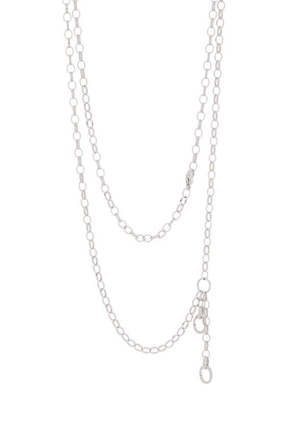 Monica Rich Kosann Sterling Silver Double Charm Enhancer Necklace