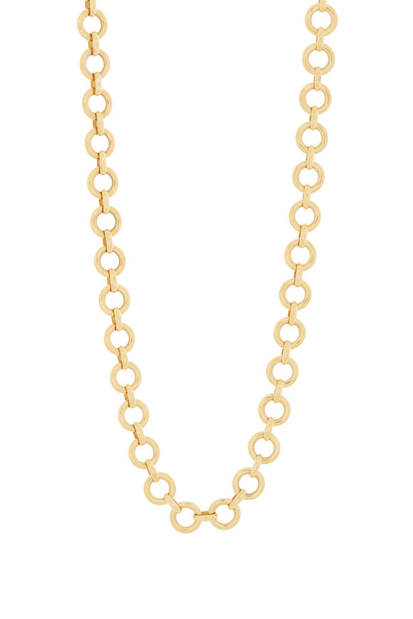 Temple St. Clair 18K Yellow Gold J'Darc Link Necklace