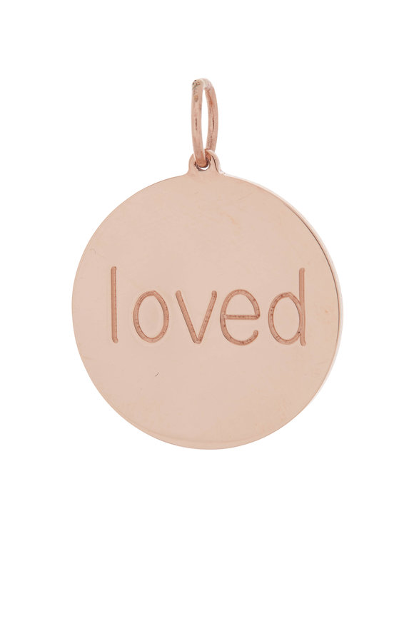 Genevieve Lau Rose Gold Big Loved Disc Charm