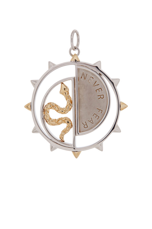 Monica Rich Kosann Sterling Silver & Yellow Gold Never Fear Medallion