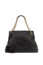 Gucci - Soho Black Leather Medium Tote