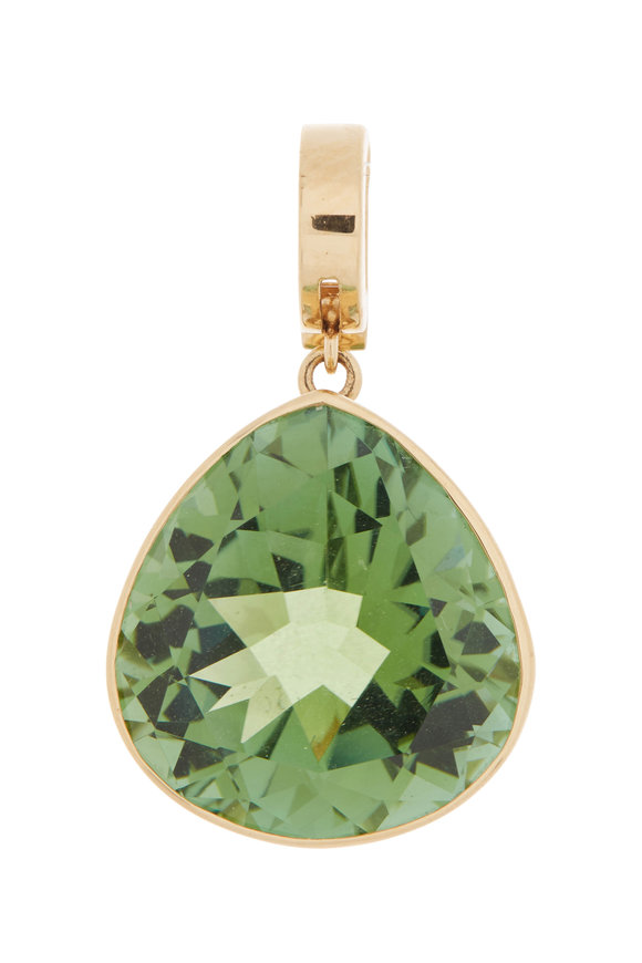 Marina B 18K Yellow Gold Trisolina Green Tourmaline Pendant