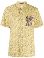 R13 - Tony Yellow Floral & Leopard Button Down