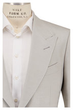 Tom Ford - Shelton Beige Silk Tweed Sportcoat