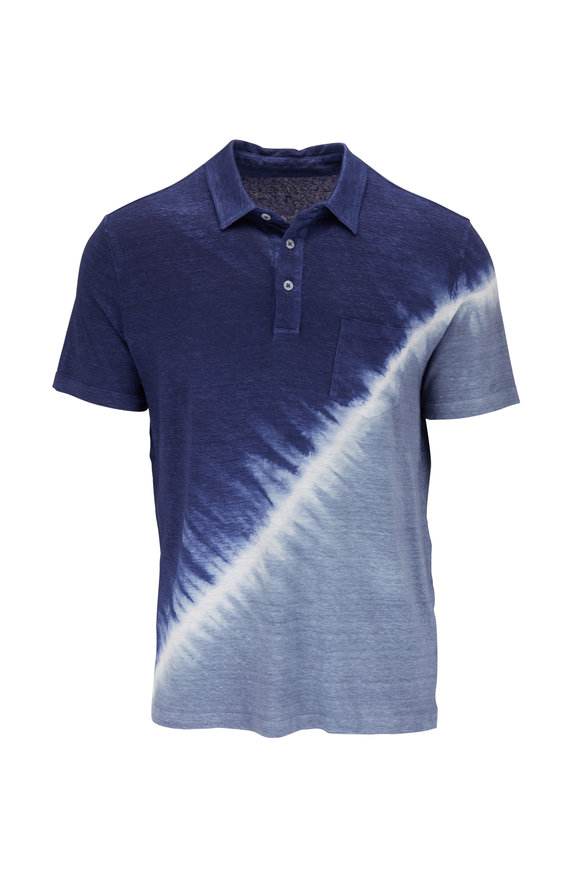 Altea Navy Blue Dip Dyed Polo