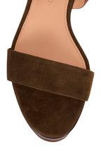 Veronica Beard - Hurley Army Suede & Leather Platform Sandal, 85mm