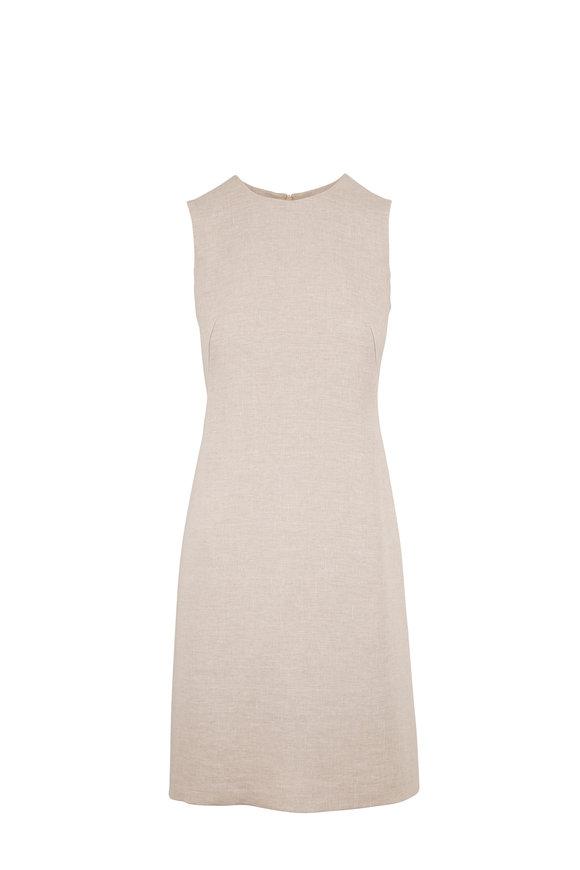 Akris Canvas Linen Sleeveless Sheath Dress
