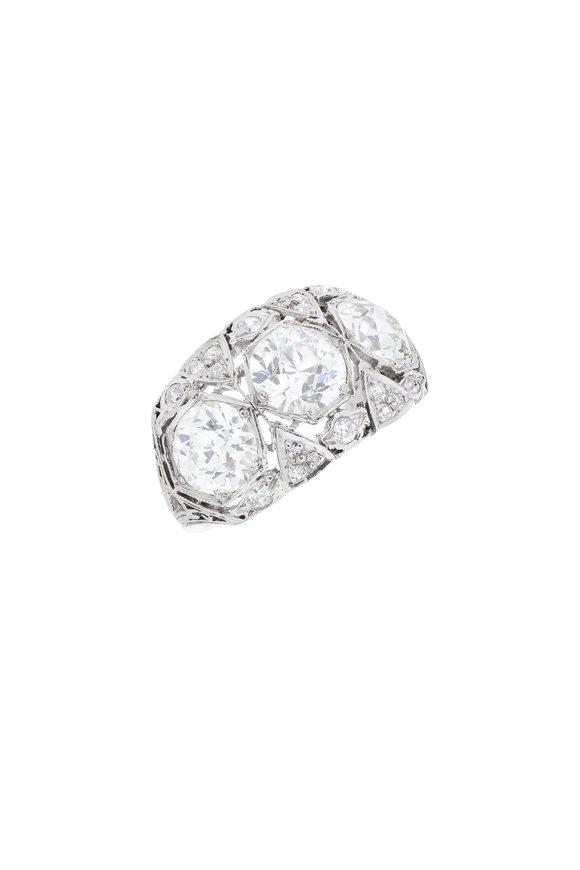Fred Leighton Platinum Diamond Art Deco Ring