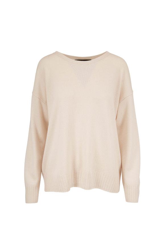 Nili Lotan Boyfriend Ivory Cashmere Sweater