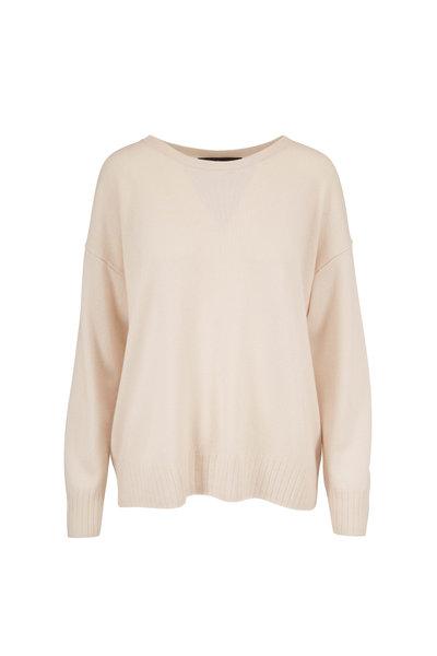 Nili Lotan - Boyfriend Ivory Cashmere Sweater
