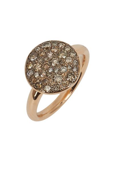 Pomellato - Black Diamond Disk Ring