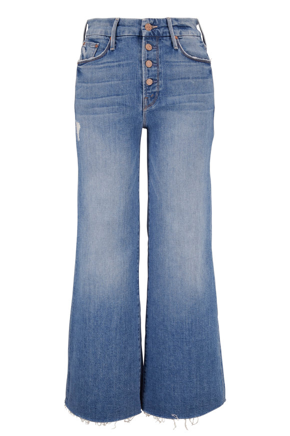 Mother Denim The Pixie Let's Kick It Roller Ankle Fray Jean