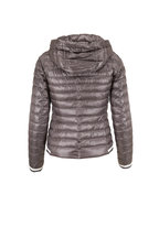 Herno - Charcoal Gray Hooded Puffer Jacket