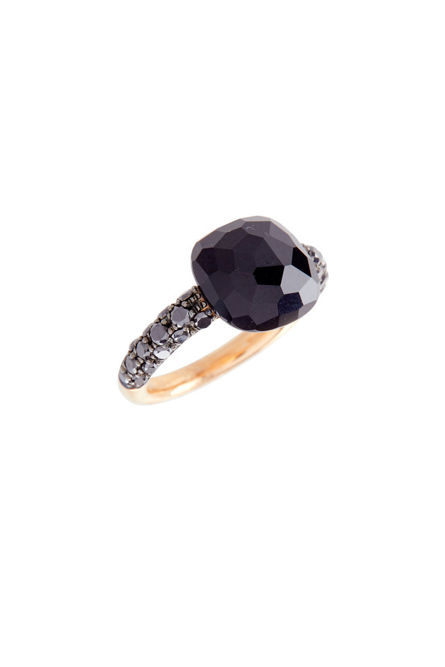 Capri 18K Rose Gold Black Onyx & Diamond Ring
