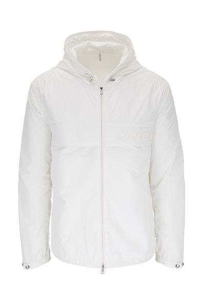 Moncler - Benoit White Nylon Hooded Jacket