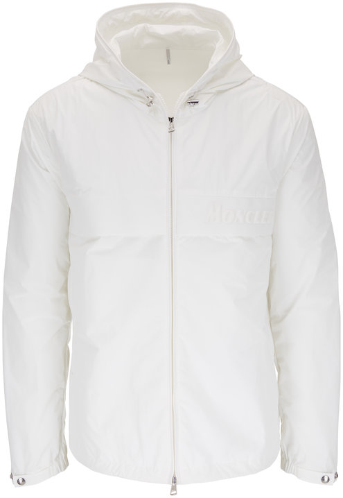 Moncler Benoit White Nylon Hooded Jacket
