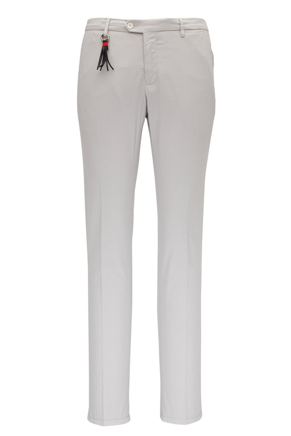 Marco Pescarolo Stone Cotton & Silk Slim Fit Pant