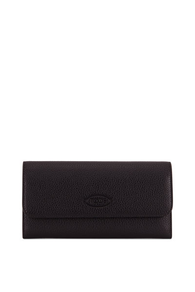 Tod's - City Organizer Black Grained Leather Wallet