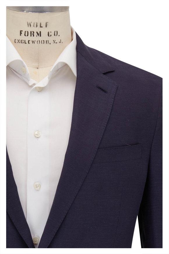 Ralph Lauren Navy Blue Silk & Linen Sportcoat