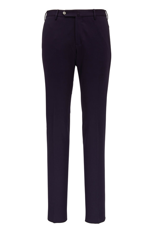 PT Torino Navy Blue Jersey Knit Super Slim Pant