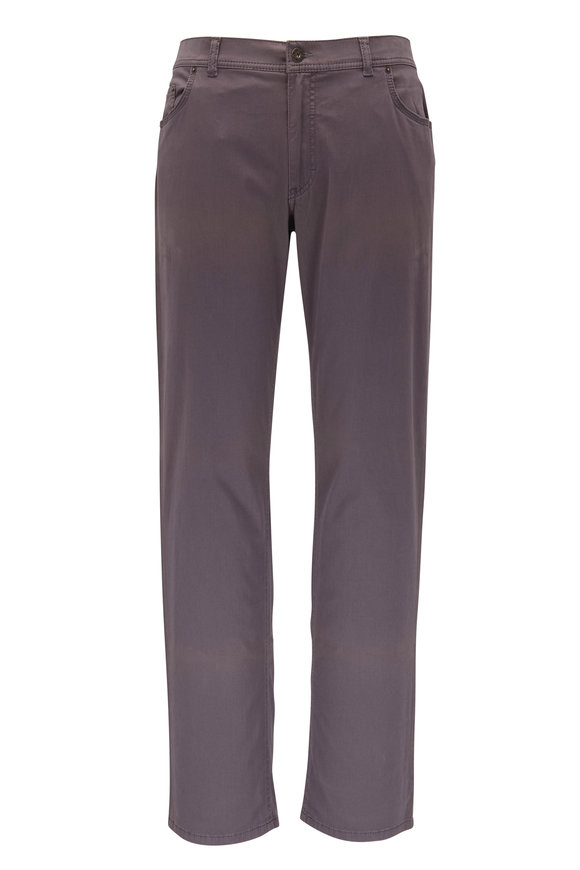 Brax Cooper Fancy Gray Five Pocket Pant