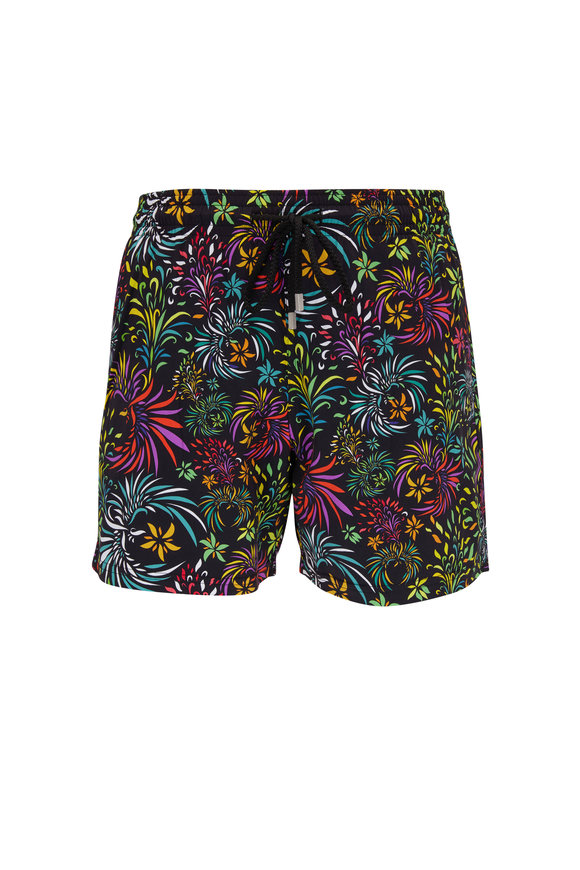 Vilebrequin Moorise Multicolor Evening Birds Swim Trunks