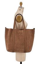 Brunello Cucinelli - Brown Suede & Leather Monili Reversible Shopper