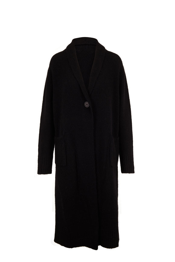 The Row Bosworth Black Cashmere Single Button Coat