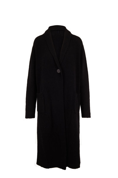 The Row - Bosworth Black Cashmere Single Button Coat