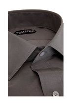 Tom Ford - Silver Cotton & Silk Dress Shirt