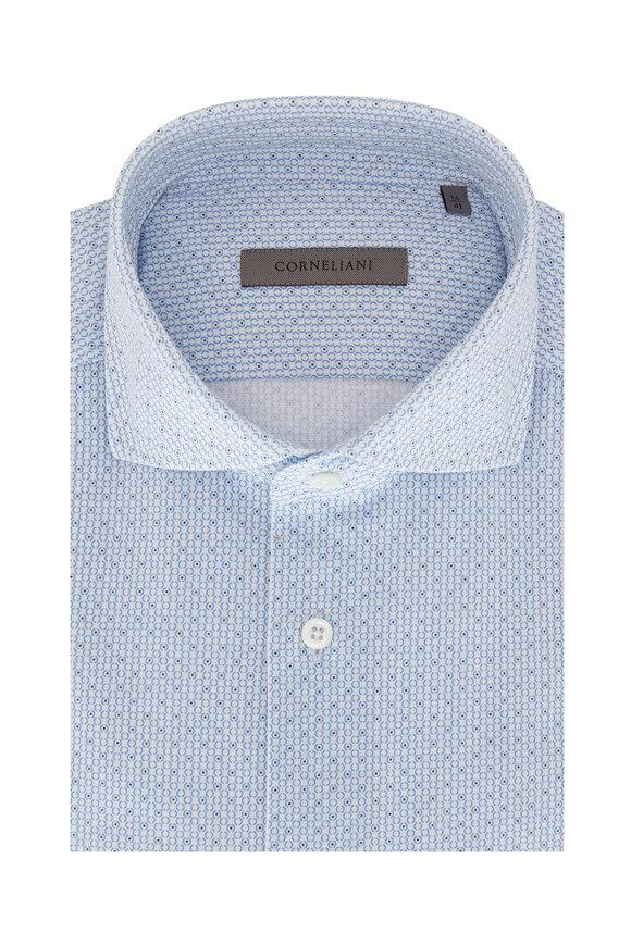 Corneliani Light Blue Circle Sport Shirt