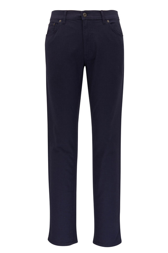 Brax Cooper Fancy Navy Blue Five Pocket Pant