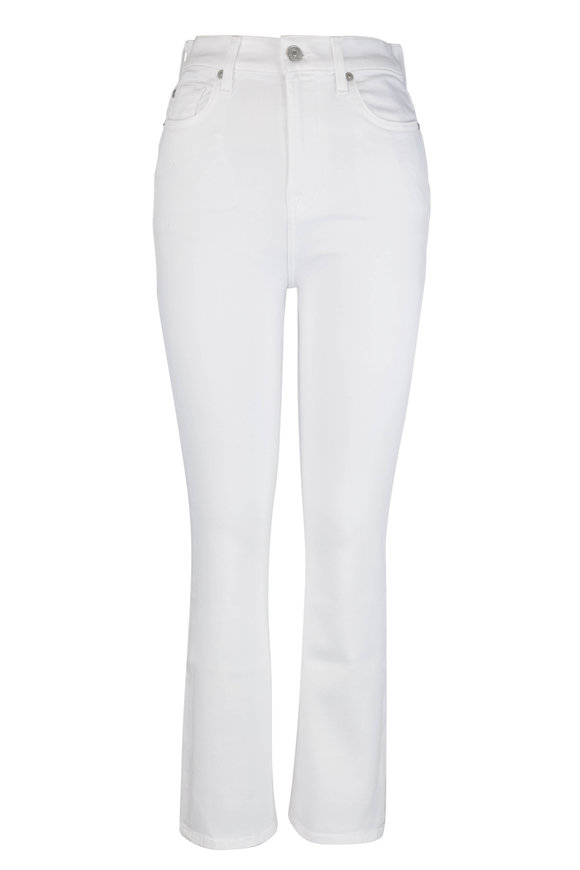 7 For All Mankind Slim Illusion White High-Rise Jean