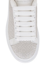 Alexander McQueen - White & Silver Studded Exaggerated Sole Sneaker