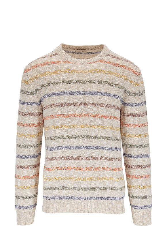 Altea Creamy White Stripe Sweater
