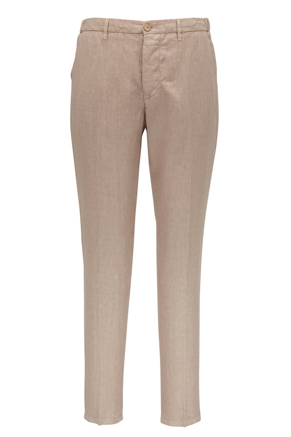 Altea Oat Linen Pull-On Pant