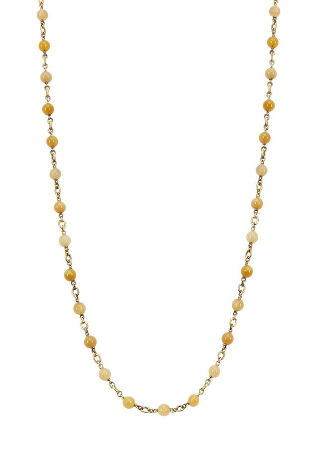 18K Yellow Gold Zambian Opal Necklace