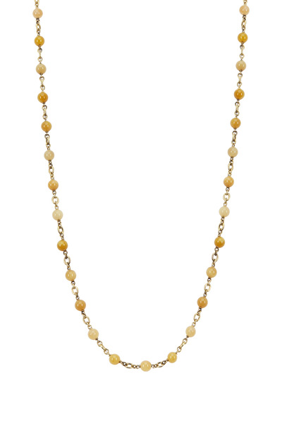 Sylva & Cie - 18K Yellow Gold Zambian Opal Necklace