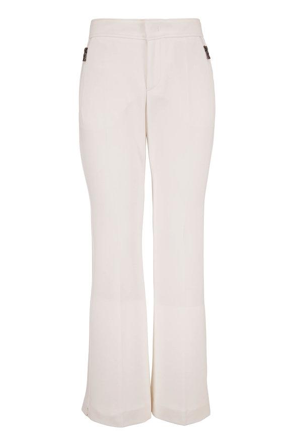 Bogner Ariana White Smooth Finish Zip Pocket Pant